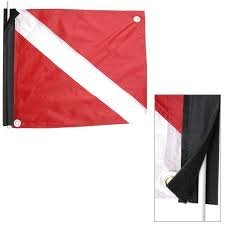 Boat Legal Dive Flag with Velcro Mount and Stiffener