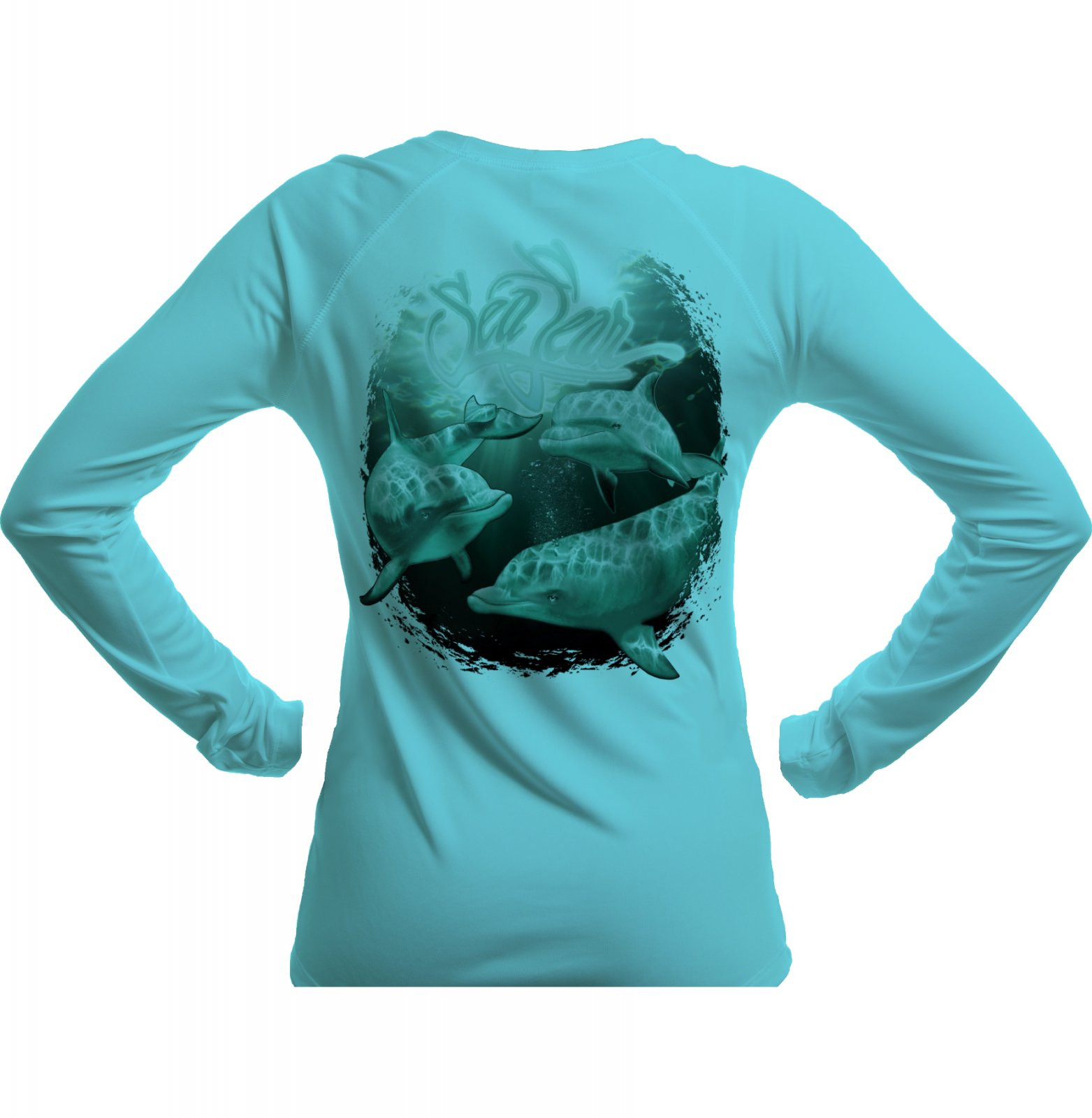 SeaFear Dolphin L/S Women's Performance Tee