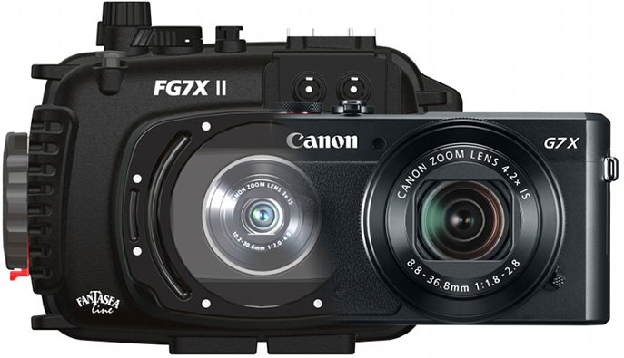 Canon G7X II Camera and Fantasea Housing