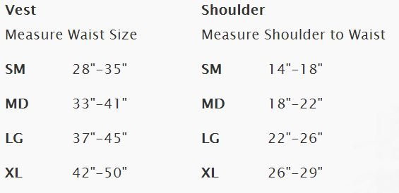 Stiletto Size Chart