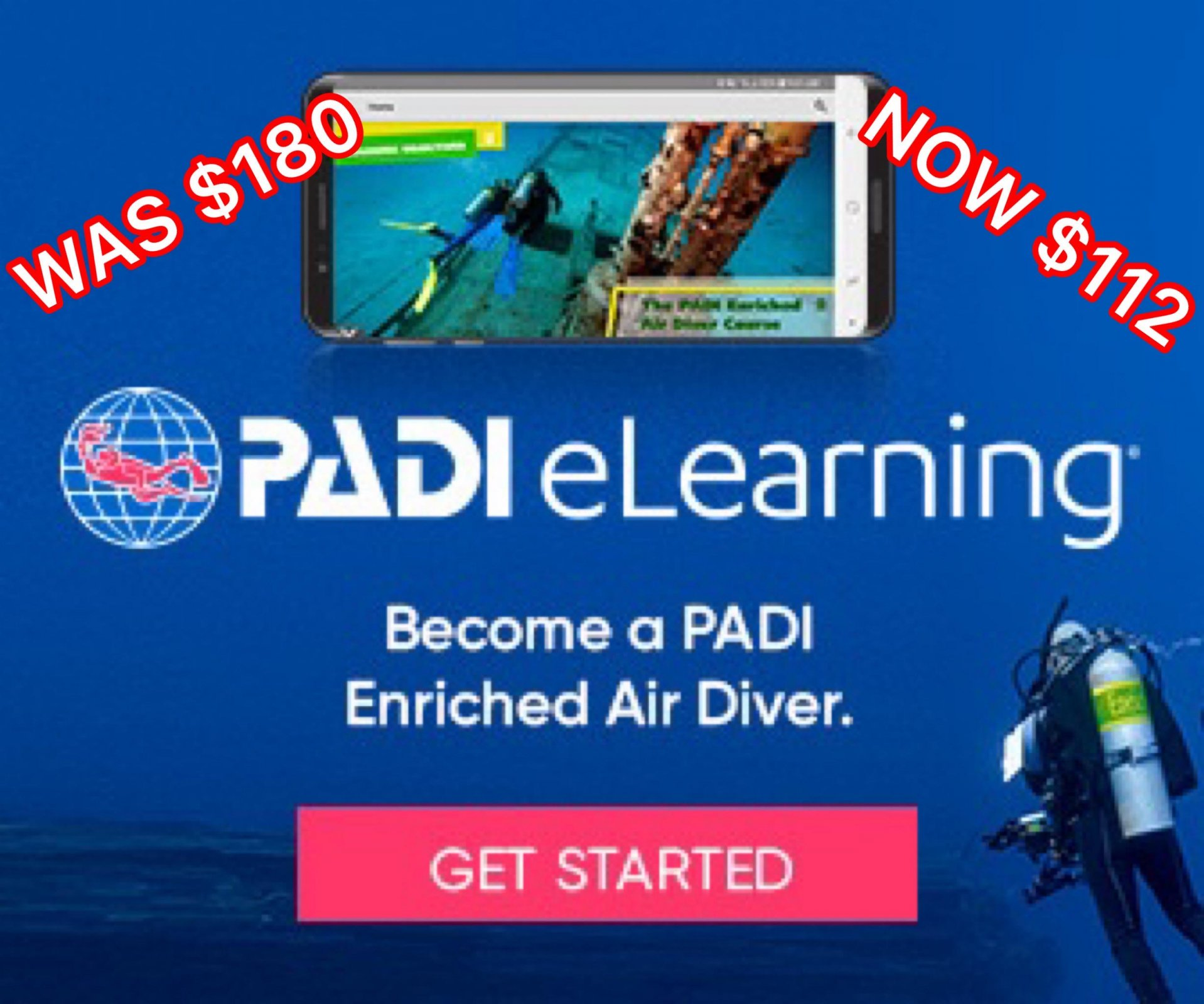 PADI E-LEARNING ENRICHED AIR DIVER