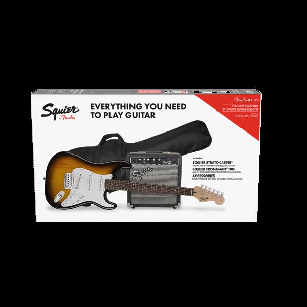 Squier Stratocaster Pack, Laurel FB, Gig Bag, 10G - 120V
