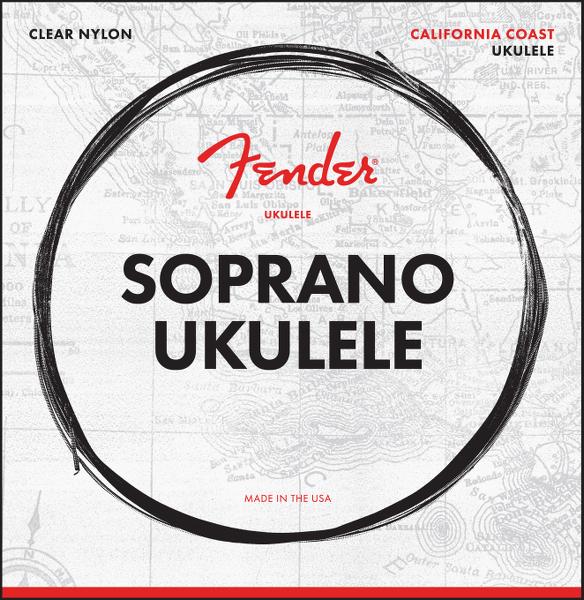 Fender California Coast Soprano Ukulele Strings, Set