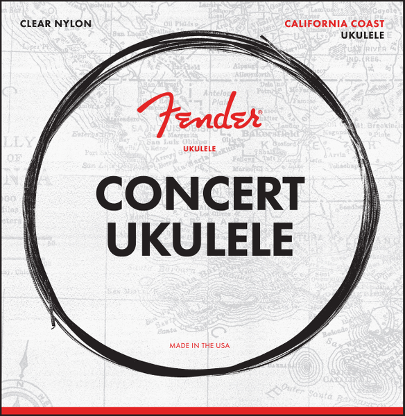 Fender California Coast Concert Ukulele Strings, Set