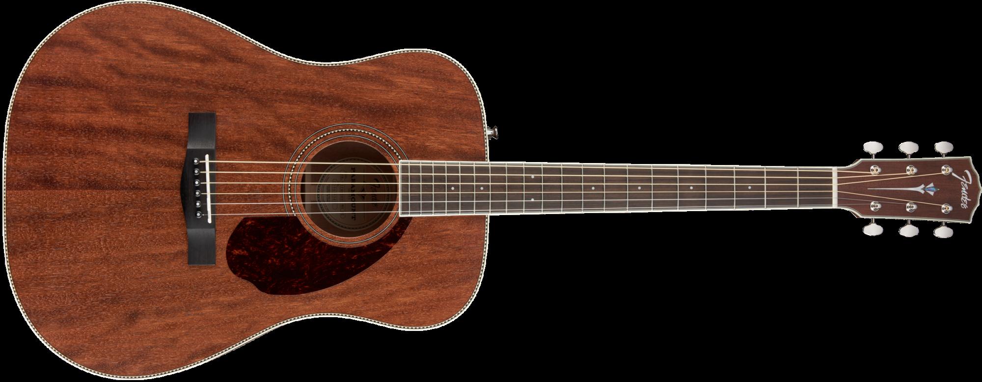 Fender Paramount PM-1 All Mahogany Dreadnought NE with Case