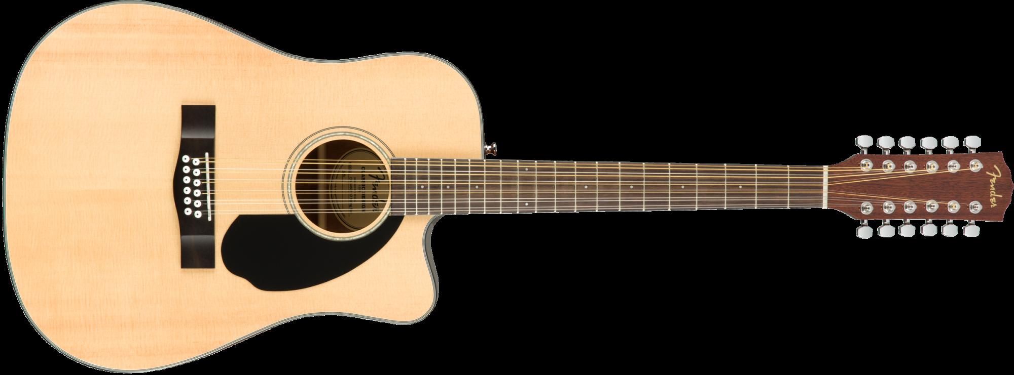 Fender CD-60SCE-12, Natural, 12 String
