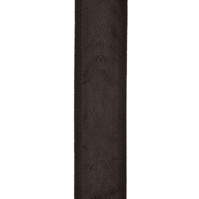 Woven Classical Guitar Strap Black Satin By D'Addario