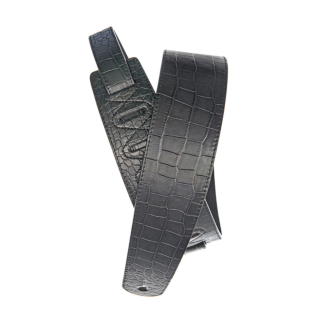D'Addario Deluxe Leather Guitar Strap, Alligator