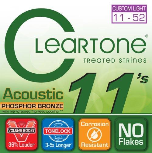 Cleartone Phosphor Bronze Custom Light Acoustic Set 11-52