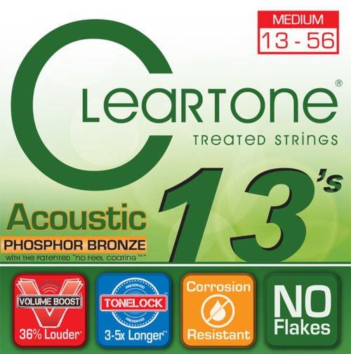 Cleartone Phosphor Bronze Medium Acoustic Set 13-56