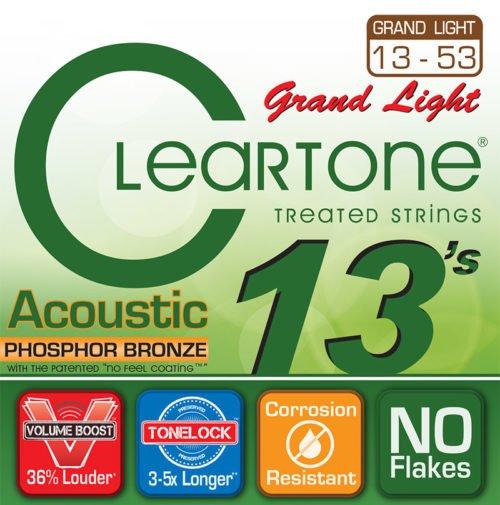 Cleartone Phosphor Bronze Grand Light Acoustic Strings 13-53