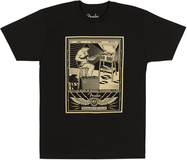 Fender Sitting Player Men's T-Shirt, Black