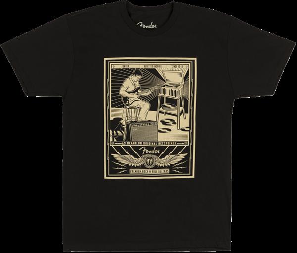 Fender® Sitting Player Men's T-Shirt, Black