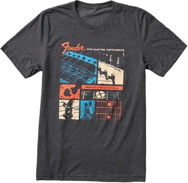 Fender Jaguar T-Shirt, Dark Gray