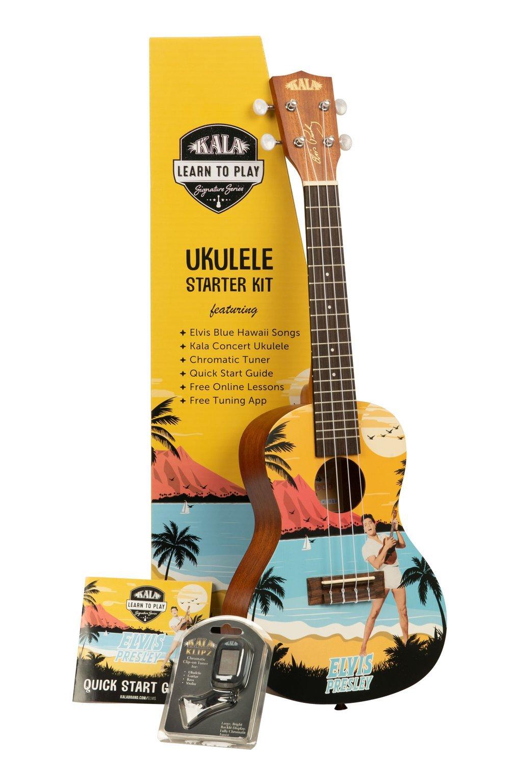 Kala Learn to Play with Elvis Concert Uke Starter Kit