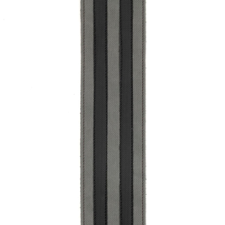 D'Addario Deluxe Leather Guitar Strap, Racing Stripes, Grey with Black Stripes