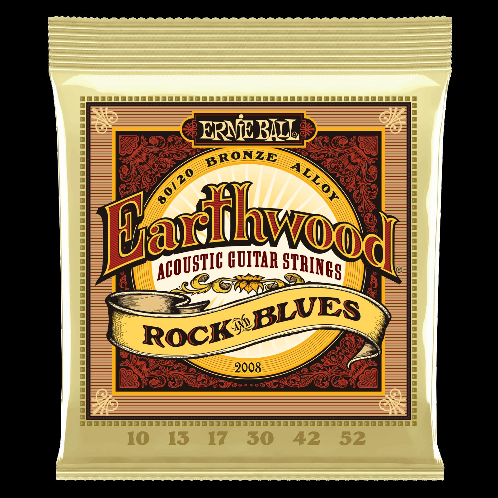 Ernie Ball Earthwood 80/20 Bronze, Rock 'N Blues Set  2008