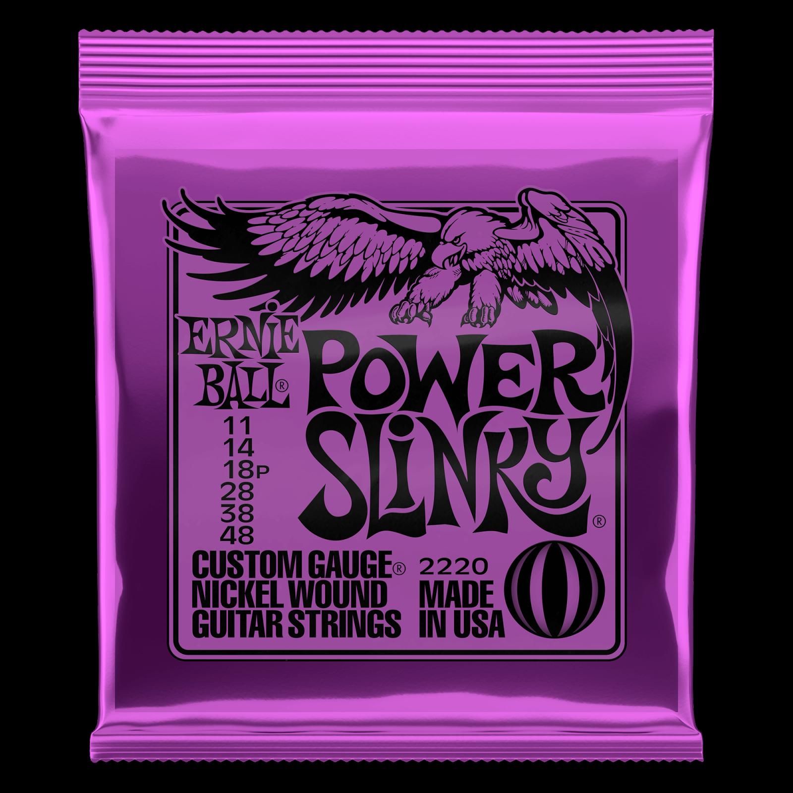 Ernie Ball Nickel Wound, Power Slinky Set .011-.048