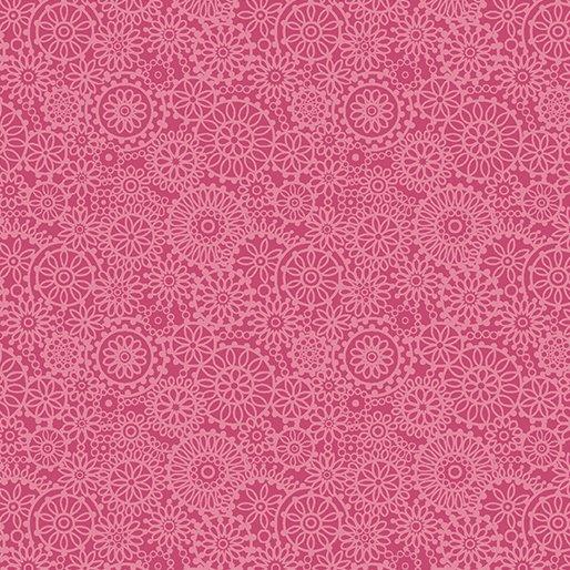 01074 26 Tonal Medallions Pink Benartex