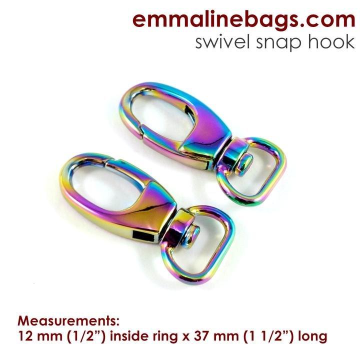 2Hook12 Irides/2 Swivel Snap Hook 1/2 (12mm)