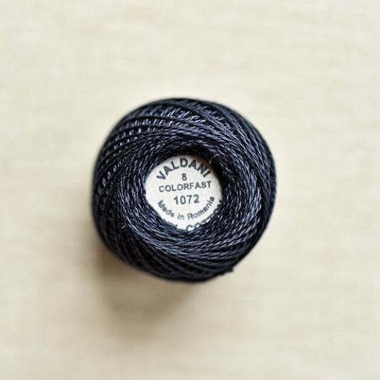 1072 Valdani Dark Dusty Blue Pearl Cotton