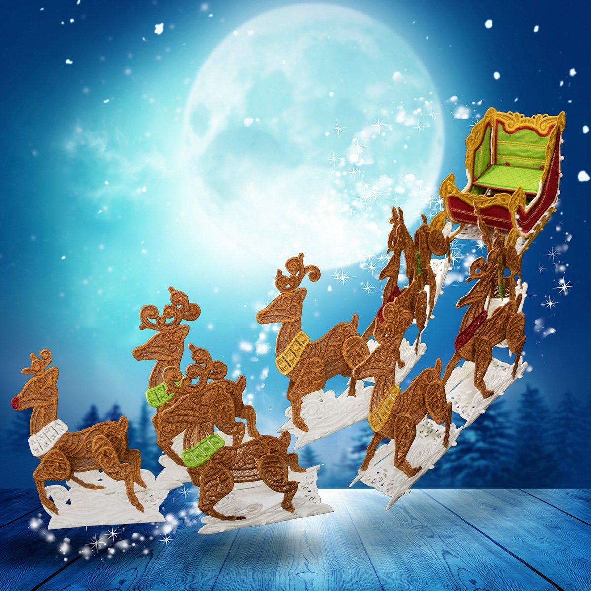 12841CD FS Sleigh & Reindeer CD
