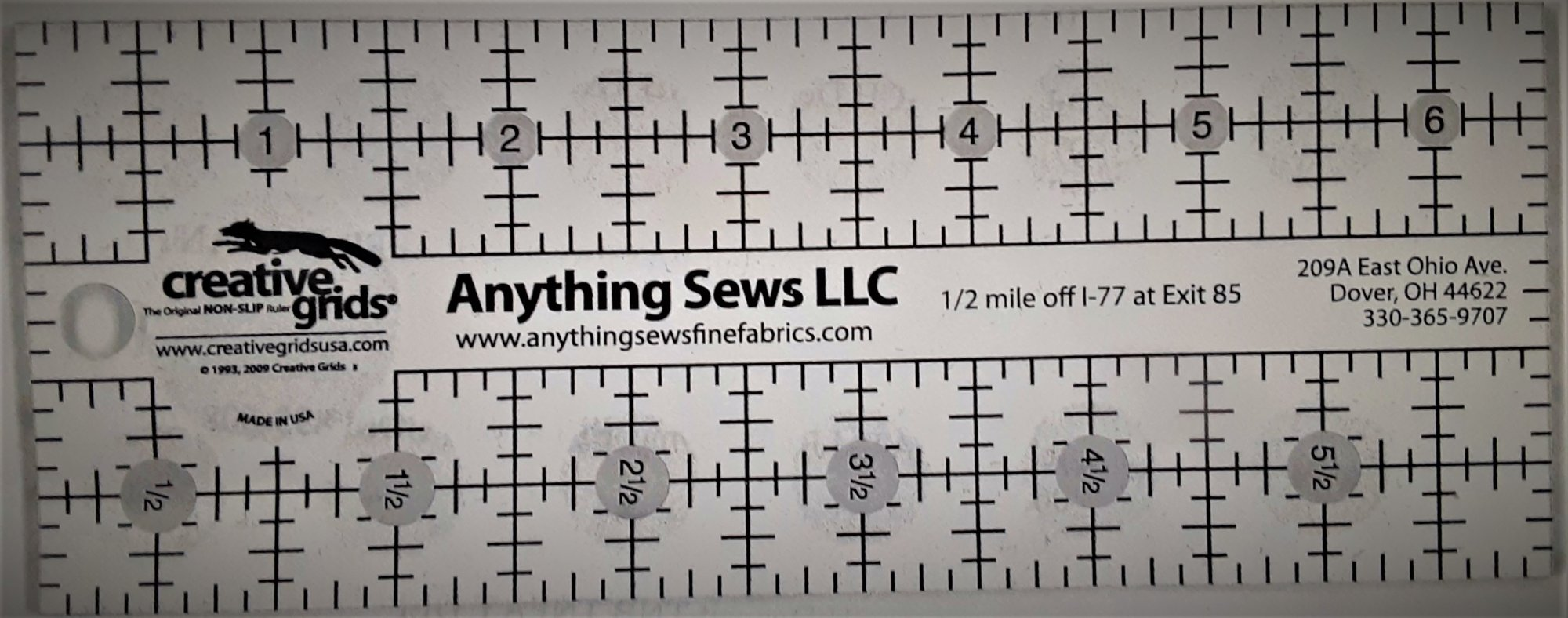071920211 Anything Sews 2 1/2x6 1/2 CGR ruler