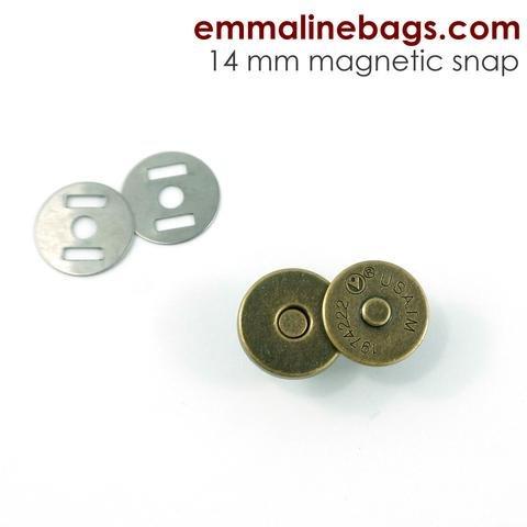 Antique Brass Magnetic  Snap Closures 9/16