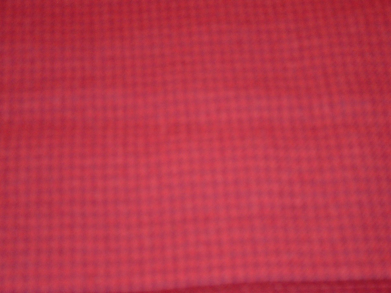 Red Check FQ 18x28 Textured 100% Wool