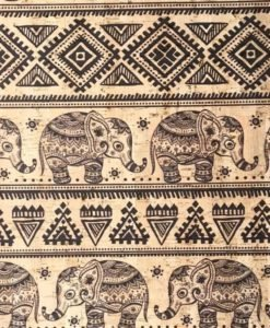 Cork Surface Tribal Elephants
