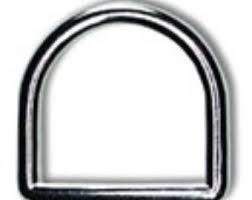 1/2 inch D Rings Silver 2 per pkg