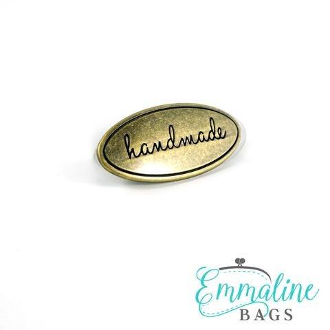 Antique Brass BB Label/Oval Handmade