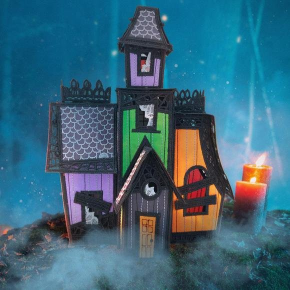 12830CD Freestanding Haunted Mansion