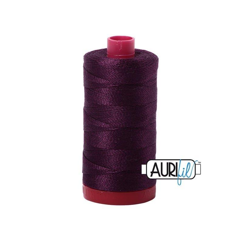 1240 12 Aurifil Purple Thread 1300yd