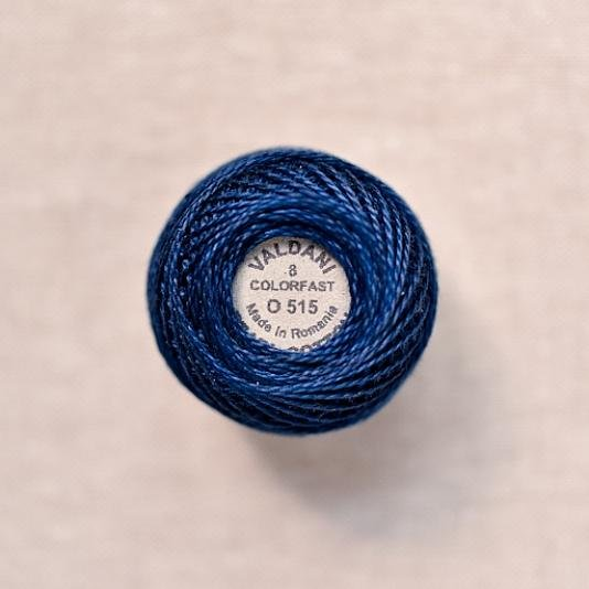 O515 Valdani Midnight Blue Pearl Cotton