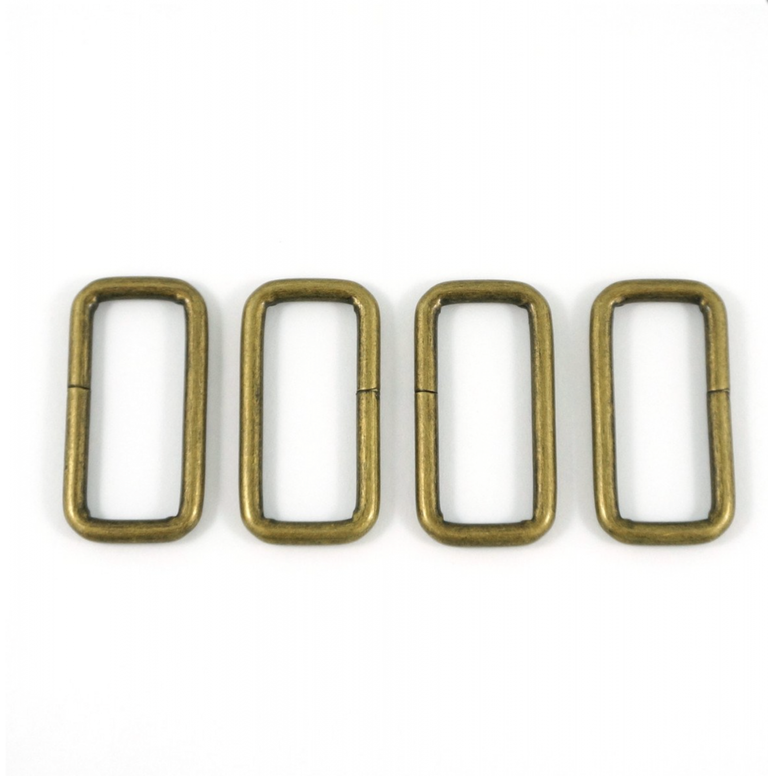 ABREC-WIRE Rectangular Rings 4 Pack 1-1/4 (32mm) Antique Brass