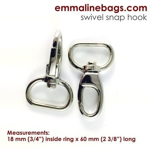3/4 Swivel Snap Hook Nickel