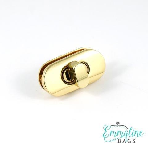 Emmaline Bags EBBAR-7GO Medium Pointed Gold Metal Trim Edge