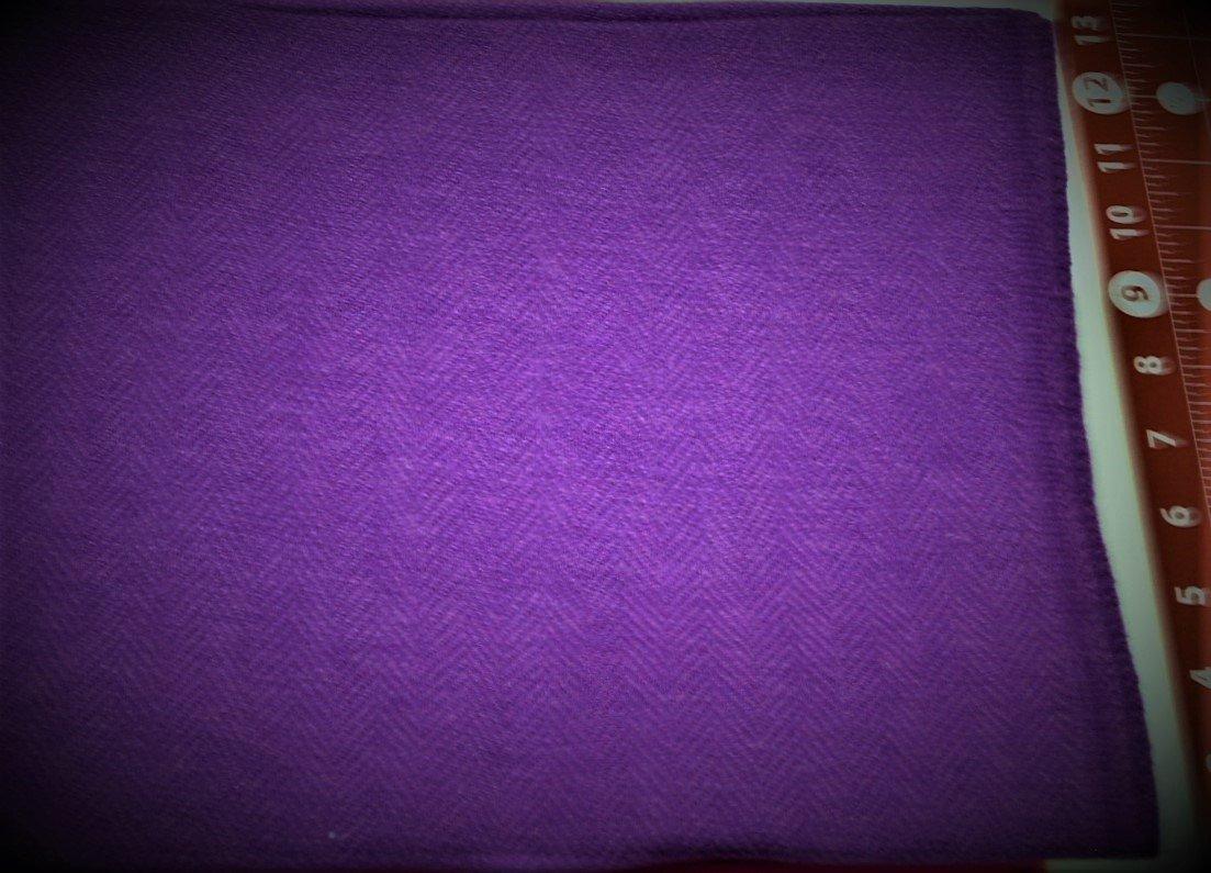 Grape Herringbone FQ Textured 100% Wool  Bright