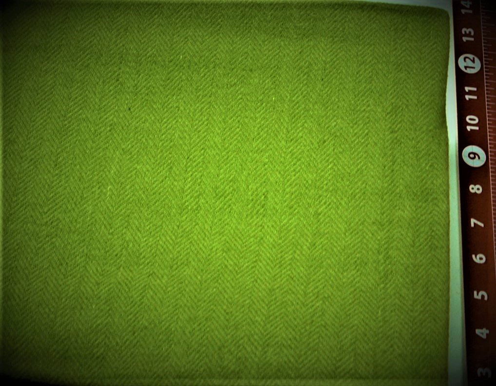 Herringbone FQ 18x28 Textured 100% Wool  Bright