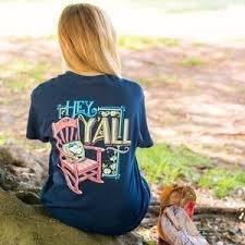 Tshirt-Hey Y'all  SIZE MEDIUM