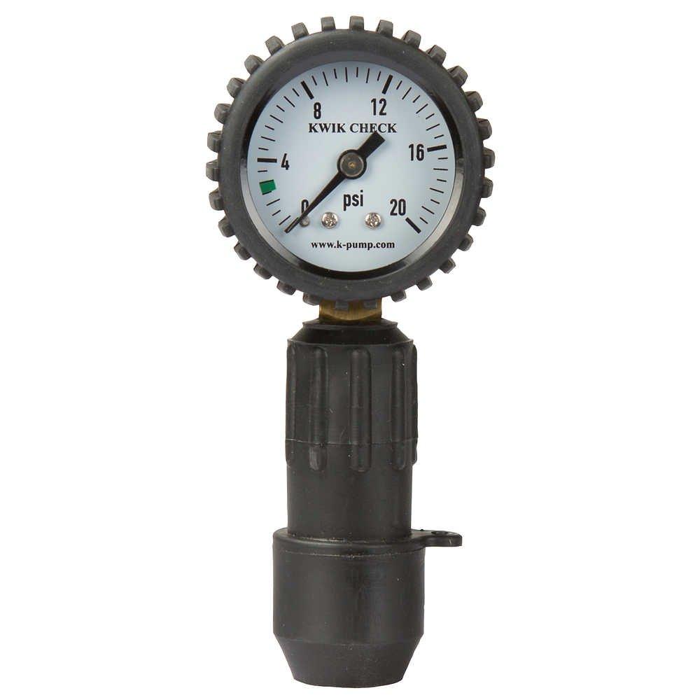 K-Pump Kwik Check Pressure Gauge Black/White