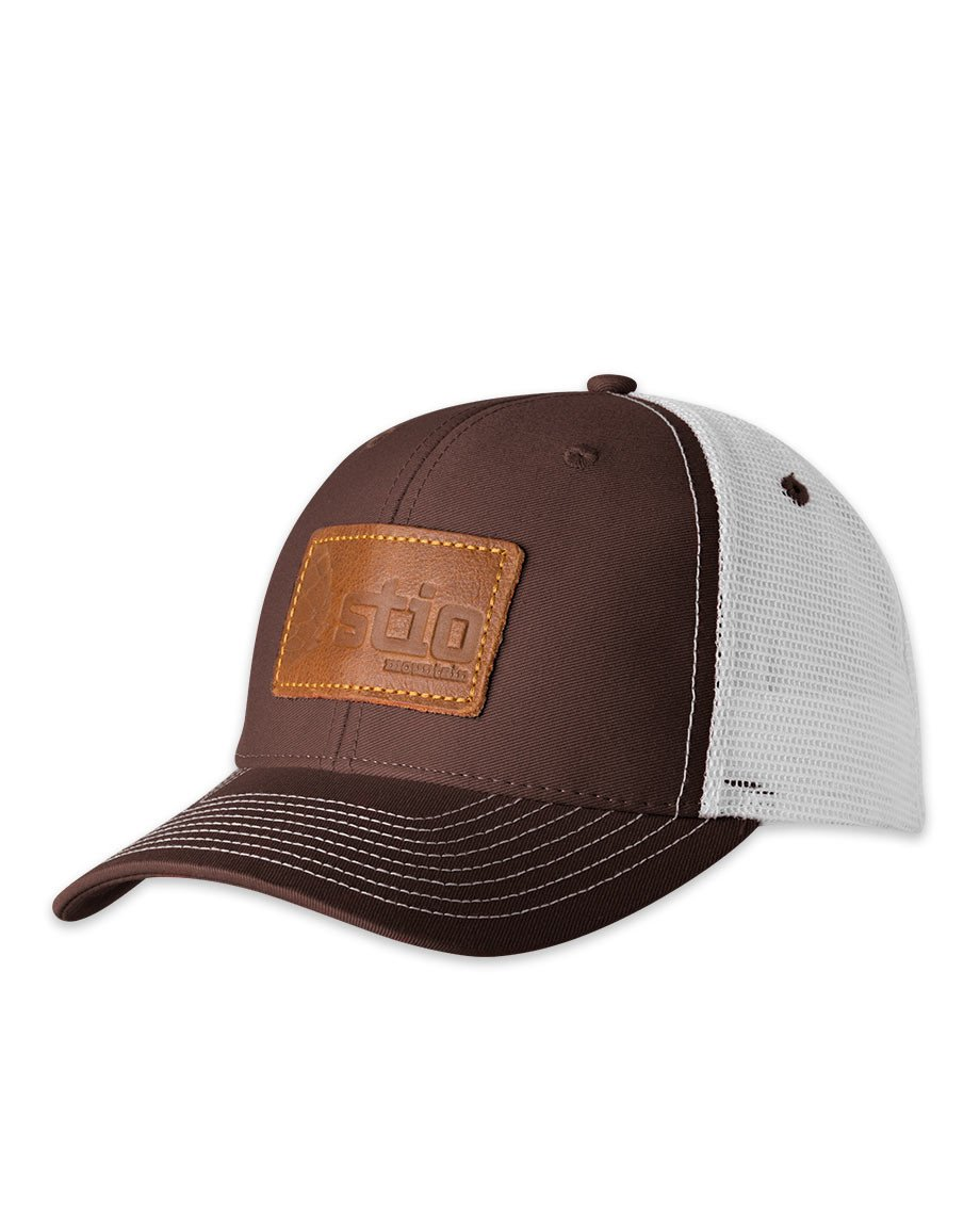 Stio Leather Patch Trucker Hat