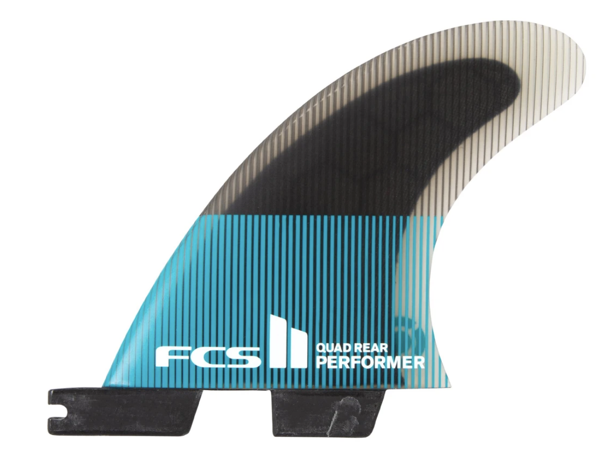 FCS II Performer PC Teal Small Quad Rear Fins