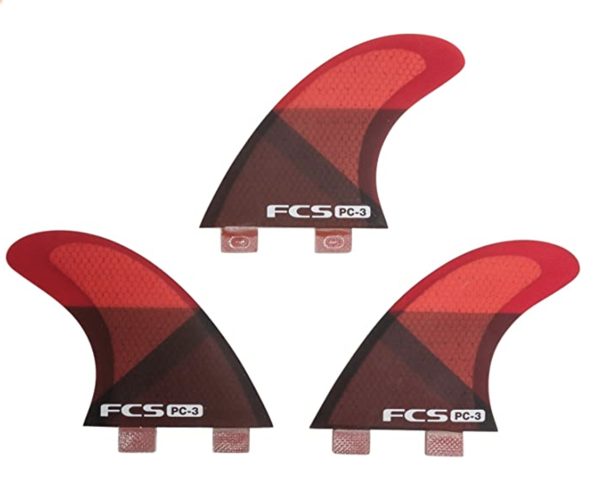 FCS II PC-3 Red Slice Tri Fins