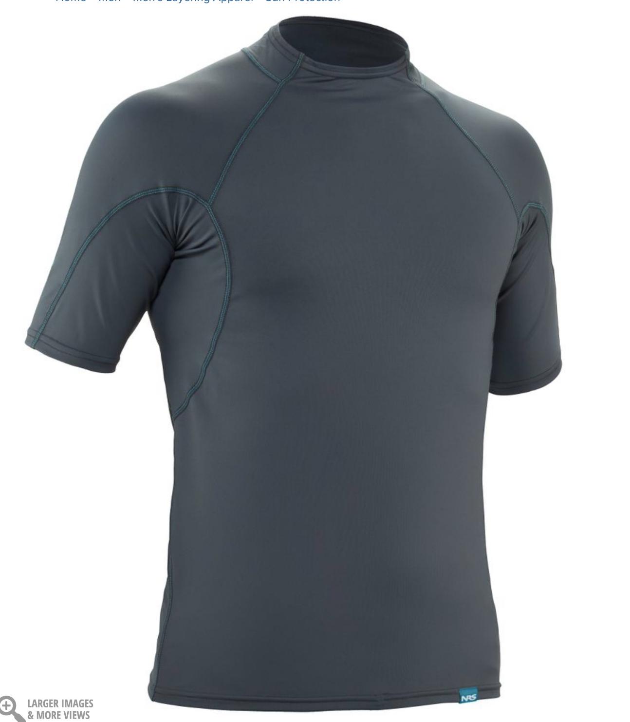 NRS Men's H2Core Rashguard Short Sleeve