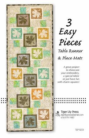 3 Easy Pieces Table Runner & Place Mats Pattern