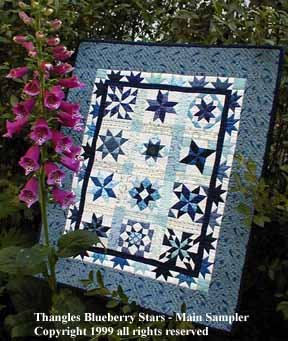 Thangles Blueberry Stars Pattern
