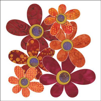 Bohemian Chic  Daisies Applique