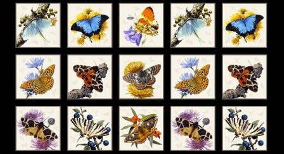 Butterflies & Moths Fabric Panel